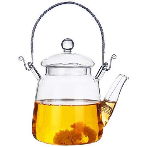 JMDCH Karaffen,Europäische Hohe Borosilikat Hitzebeständige Träger Teekanne Glas Teekanne Blumentee 350Ml -