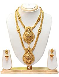 South Indian Champion Colour Haram Jewellery Set With Earrings