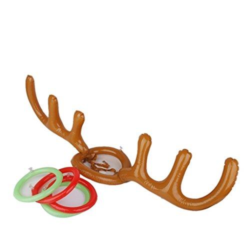 YaptheS Inflatable Rengeweih Ring Hat Toss Spiel mit Ring Weihnachten Geburtstags-Geschenk für Kinder Schöne Schmuck