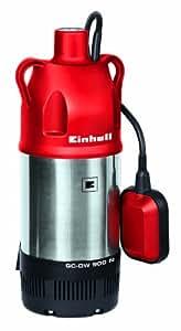 Einhell Tauchdruckpumpe GC-DW 900 N (900 W, max. 6000 l/h, 32 m Förderhöhe, Fremdkörper bis 2,5 mm, Stufenlos höhenverstellbarer Schwimmerschalter)