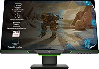 HP 25x - Monitor Gaming de 24.5'' Full HD (1920x1080, TN, 16:9 HDMI 2.0, DisplayPort 1.2, 1ms, 144 Hz, AMD FreeSync, Low Blue Light, Ajustable en Altura), negro (B07F6J5D3D) | Amazon Products