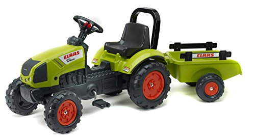 Falk Claas Arion 410 + Trailer Pedal Tractor - Juguetes de Montar (420 mm, 1320 mm, 530 mm, 6,5 kg, 420 mm, 800 mm)