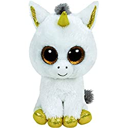 TY - Beanie Boos Pegasus, unicornio, 15 cm, color blanco (United Labels Ibérica 36179TY)