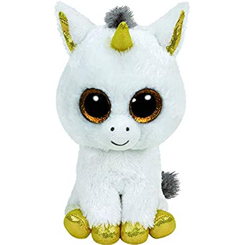 peluches TY - Beanie Boos Pegasus, unicornio, 15 cm, color blanco (United Labels Ibérica 36179TY)