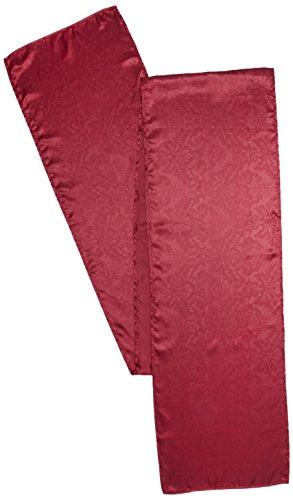 LinenTablecloth Barock geprägt Satin Tischläufer, 14von 274cm, burgund