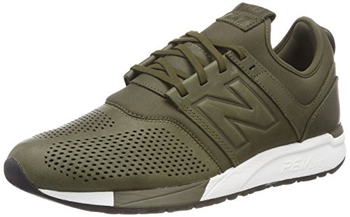 New Balance Herren 247v1 Sneaker, Grün (Green/White No), 45 EU