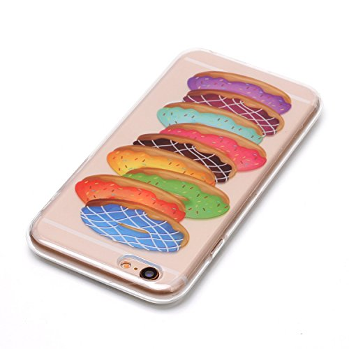 iPhone 6 Plus Hülle, Voguecase Silikon Schutzhülle / Case / Cover / Hülle / TPU Gel Skin für Apple iPhone 6 Plus/6S Plus 5.5(Donuts 13) + Gratis Universal Eingabestift Donuts 13
