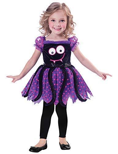 Fancy Me Baby Kleinkind Mädchen Niedlich Schwarz Violett Rosa Spinne Mini Biest Halloween Kostüm Kleid Outfit 1-3 Jahre - Rosa, 1-2 Years (Baby Mini-me Kostüm)