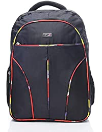 FLYIT Laptop Bag School Bag 3 Compartment Large Laptop Bag Black Color