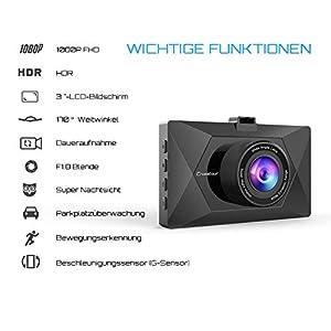 Crosstour-Mini-AutoKamera-1080P-Full-HD-Dash-Cam-12MP-Bildschirm-mit-170–Weitwinkel-HDR-G-Sensor-Loop-Aufnahme-und-Bewegungserkennung
