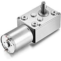 AzsmUK Motor eléctrico de reducción de 12 V CC con engranaje de gusano de alta torsión con caja de engranajes para ventanas, abridor de puerta, cabrestante en miniatura, 46 Rpm, 12 Volt