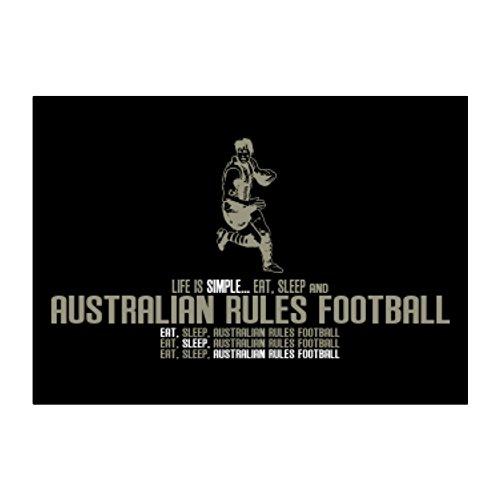 Life is simple eat, sleep and Australian Rules Football Aufkleber Packung x4