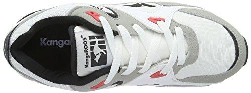 KangaROOS Runaway Roos 001, Baskets Basses Mixte Adulte Multicolore - Mehrfarbig (white/salmon 063)