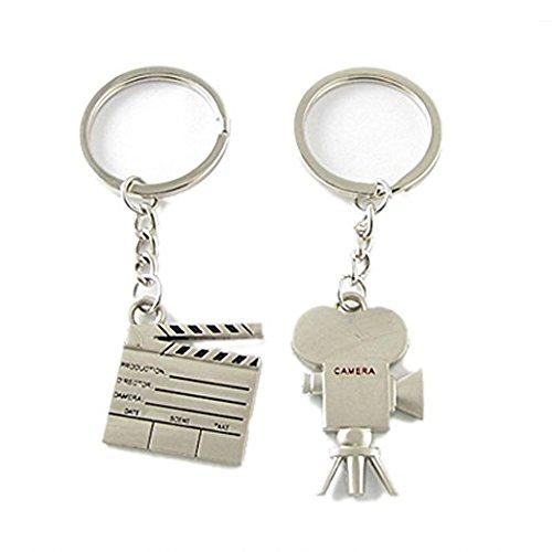 Xinjiener Anhänger für Paare, Film, Kamera, Metall, Schlüsselanhänger, Tasche