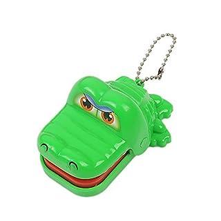 Krokodil Zahnarzt Bissen Spielzeug - TOOGOO(R)Neu Spielzeug Krokodil Zahnarzt Bissen mit Schluesselanhaenger Gruen