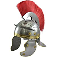 Roman Centurion Helmet with Red Plume Antique replica Roman casco