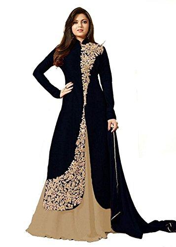 Ank-Womens-Silk-Georgette-Semi-Stitched-Dress-Material-CreamBlack1Cream-Black