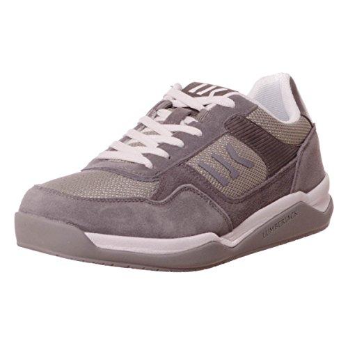Lumberjack Spin hommes, toile, sneaker low Grey/Lt Grey