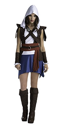 Assassins Creed Edward Kenway Classic Women's Fancy dress costume Large (Edward Kenway Kostüm)