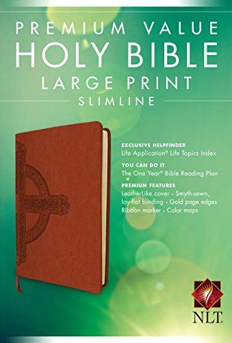 Premium Value Slimline Bible-NLT-Large Print Cross