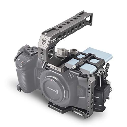 (Tilta Gray) TILTA TA-T01-B-G BMPCC 4K Kamera Käfig Basic Kit Cage Blackmagic Pocket Cinema Camera 4K Rig (Basic Kit) Cinema-kamera
