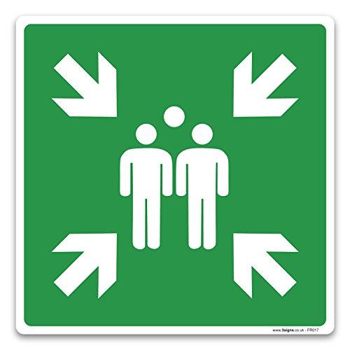 Assembly Point Schild–Nur Symbol–Fire und Erste Hilfe Signs By Lichtschalter CO, 200mm x 200mm