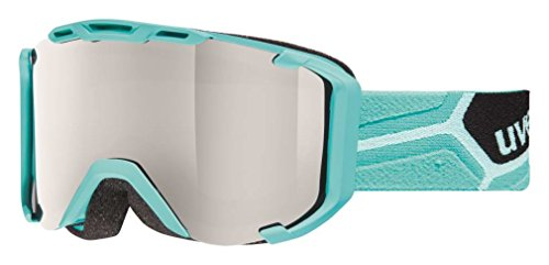 UVEX SNOWSTRIKE LTM 2015/16 Skibrille Snowboardbrille Snow Goggle S5501094426(Rahmen: aqua mat Scheibe: lite mirror silver S3)