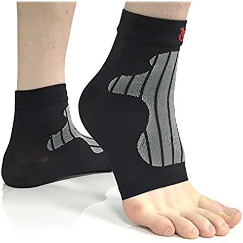 VeloChampion Soportes/Calentadores de compresion para tobillos y pies (Large, Black)(Par) Ankle
