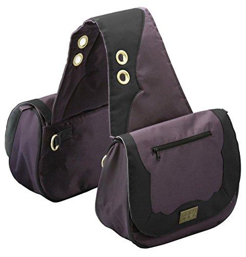 TrailMax Sun River Collection Pferde Satteltasche, Packtasche, pflaume-schwarz