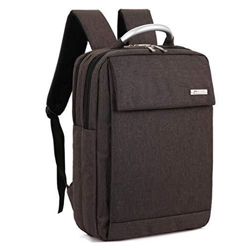 Große Business-Taschen 17-Zoll-Laptop-Rucksack Outdoor-Reiserucksack Große College School Bookbag für Reisen/Business/College/Frauen/Männer (Color : Brown)