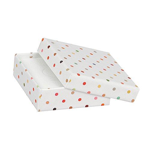 Weiß Lackiert Ablagen (jouailla–Ablage Karton lackiert Boden Weiß Erbsen Bunte)