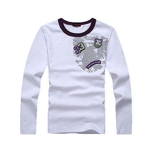 KID1234 Langarmshirt Jungen tShirtLangarmJungen, LangarmshirtKinder, Langarmshirt Baumwoll für Jungen 4-12 Jahre (5 Langarm T-shirt)