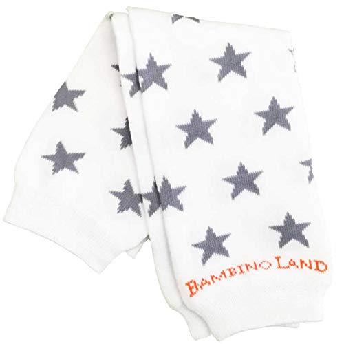Bio-leg (Leg-Warmers Beinstulpen Bio-Baumwolle (White Stars))