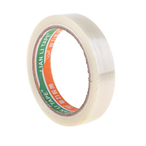SM SunniMix 20mm x 25m Transparent Glasfaserband Klebeband Filamentband -