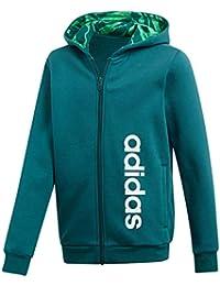 Adidas Yb Lin FZ Hood Camiseta, Niños, Verde Noble, 176