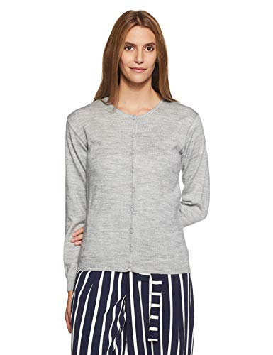Qube By Fort Collins Women's Cardigan (701 SMU_Grey_L)