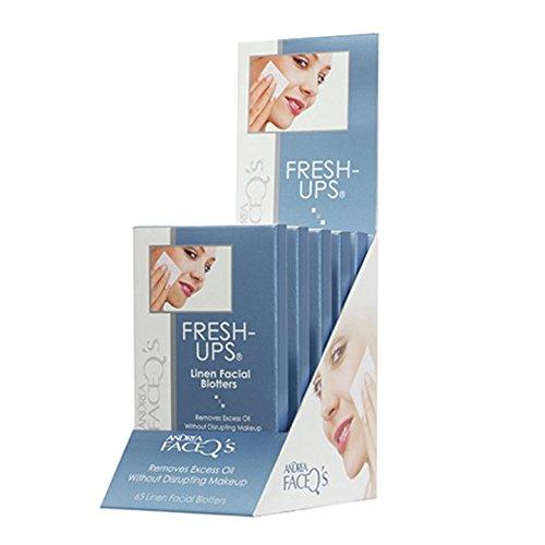 Andrea Lingettes en lin absorbantes Fresh-Ups - Absorbe les excédents de sébum (65 lingettes)