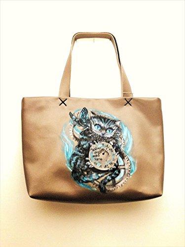 Borsa-realizzata-e-dipinta-a-mano-Il-gatto-stregato