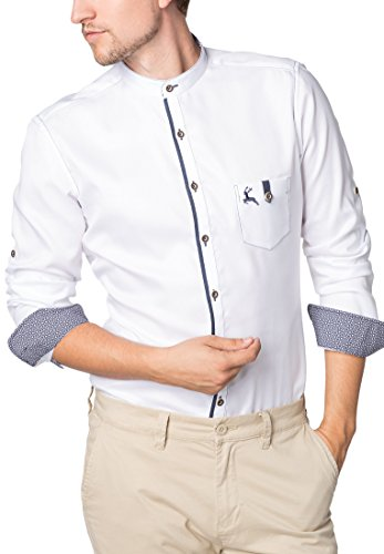 ETERNA Langarm Hemd SLIM FIT Oxford unifarben Weiß