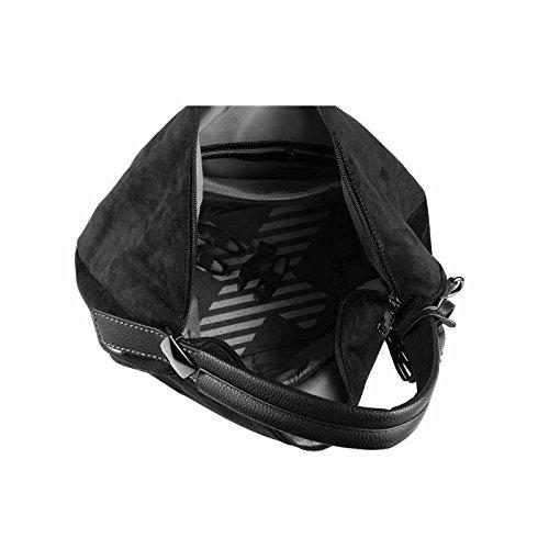 OBC Only-Beautiful-Couture, Borsa bowling donna nero nero ca.: 45x30x14 cm (BxHxT) nero