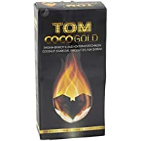 Tom CocoGold - Shisha de carbón, 3 kg, Aprox. 25 x 25 mm, Color Negro, 216 Dados