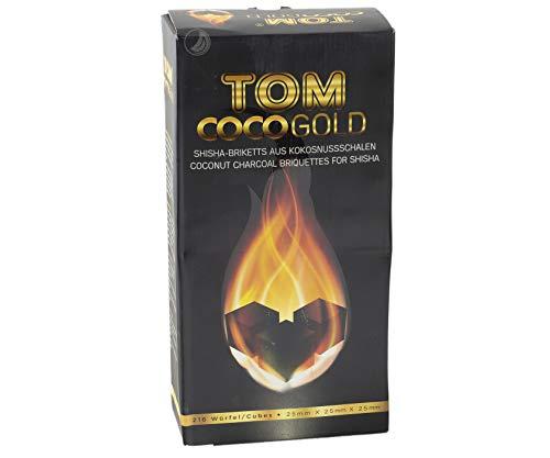 TOM Cococha Gold, 3kg, Shisha Kohle aus Kokosnussschalen Wasserpfeife / Hookah -