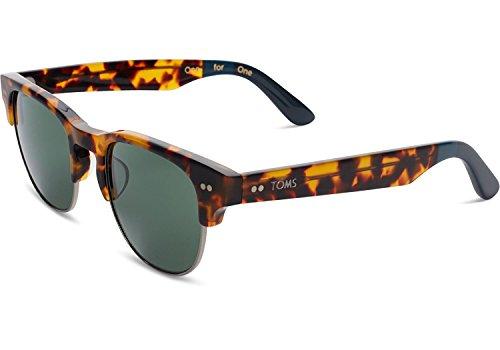 Preisvergleich Produktbild TOMS 10009595 Havanna-Schildkröte-Rahmen-Grün-Vergrößerungsglas-quadratische Sonnenbrille