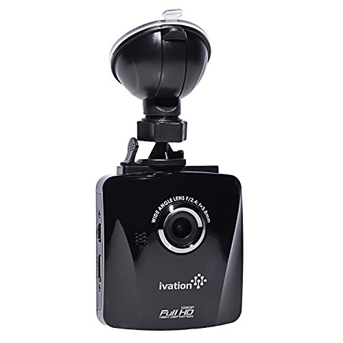 Ivation Auto-Schlag-Cam S18, 1080p HD-Video & Audio Recorder, Weitwinkel Multi-Glas-Linse Infrarotfilter , Bewegungserkennung , G-Sensor, Low Light WDR / HDR Dashcam Best-Armaturenbrett-Kamera für Car & Truck Autokamera Blackbox