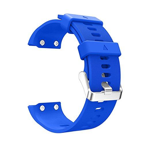 Hykis Ersatz-Armband-Uhr-Band des Armbandes Silikagel weicher Band-B¨¹gel f¨¹r Garmin Forerunner 35 Uhr [blau] - Ihome-radiowecker