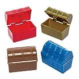 Baker Ross Mini scrigni (confezione da 8) - Scrigni in plastica in colori assortiti, perfetti per i giochi di caccia al tesoro