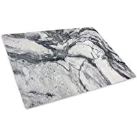 Grey White Cool Marble Glass Chopping Board Kitchen Worktop Saver Protector