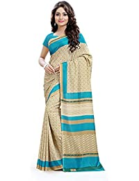 Miraan Women's Kora Silk Saree With Blouse Piece (Vi4050,Blue,Free Size)