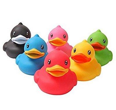 Boheng Badespielzeug Gummiente Kleine Ente Badepartner Babyparty Strand Badezeit Wasserspielzeug (6er-Set)