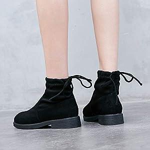 Top Shishang Female Rohr flach unten elastisch matt mit dicken Martin Stiefel Chelsea Stiefel und Stiefeletten westlichen Stiefeletten